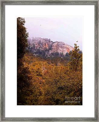 Overcast At Suicide Rock - Idyllwild Framed Print