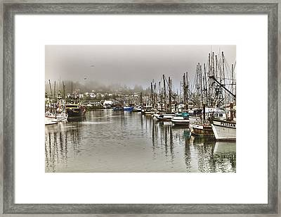 Overcast Harbour Framed Print