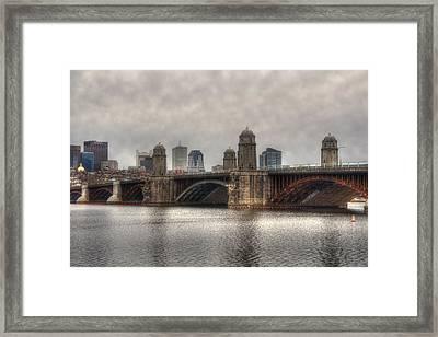 Overcast On The Longfellow Framed Print