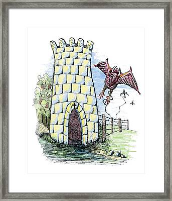 Overcome Evil With Good Framed Print by Tanya Provines
