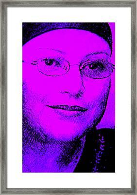Overcoming Breast Cancer Framed Print by Sandra Pena de Ortiz