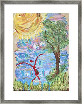 Overflow Framed Print by Satya Wimbish