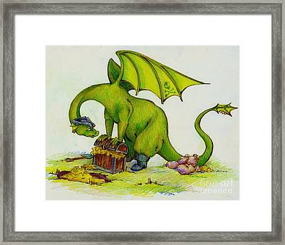 Overflowing With Greed Framed Print