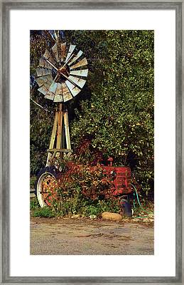Framed Print featuring the photograph Overgrown Tractor by Richard Stephen