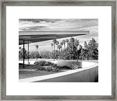 Overhang Bw Palm Springs Framed Print by William Dey