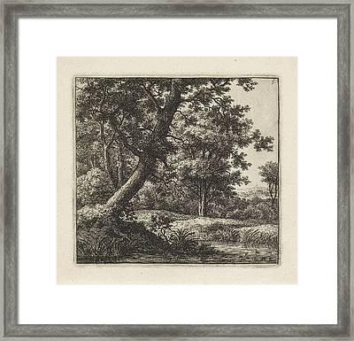 Overhanging Tree, Anthonie Waterloo Framed Print by Artokoloro