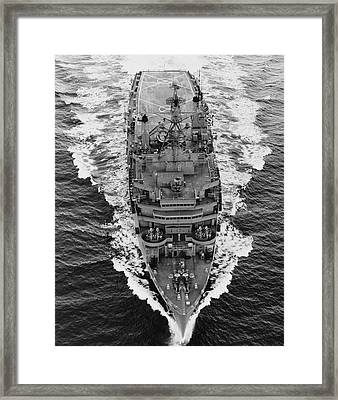 Overhead View Of Uss Nashville Lpd-13 Framed Print