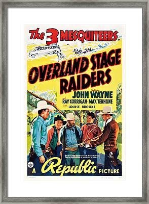 Overland Stage Raiders, Bottom Framed Print by Everett