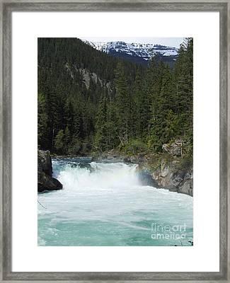 Overlander Falls - Fraser River Framed Print by Phil Banks