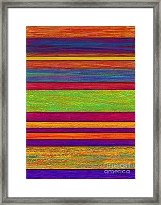 Overlay Stripes Framed Print