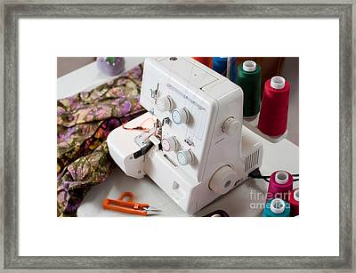 Overlock Sewing Machine Framed Print by Jim Corwin