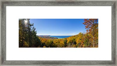 Overlook From Pierce Stocking Drive Framed Print