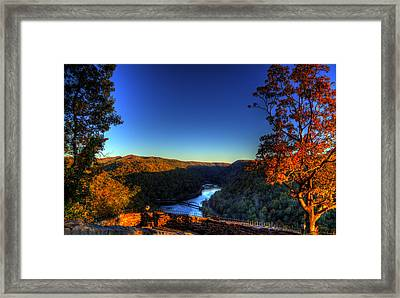 Framed Print featuring the photograph Overlook In The Fall by Jonny D
