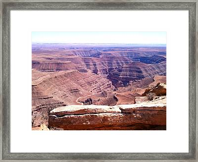 Overlook Into The Layers Of Time Framed Print