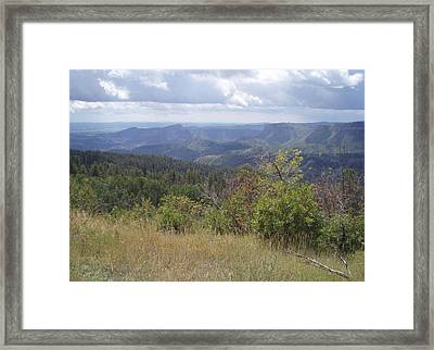 Framed Print featuring the photograph Overlook Into The Mist by Fortunate Findings Shirley Dickerson
