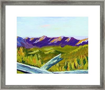 Overlook Framed Print by Joe Byrd