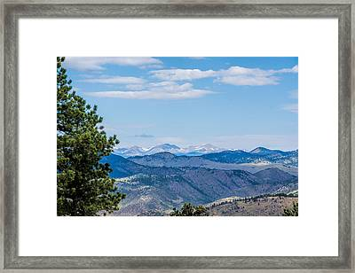Framed Print featuring the photograph Overlook Mountain  by Jeanne May