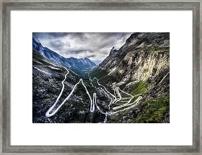 Overlook Of Trollstigen, Norway Framed Print by Photo By Tse Hon Ning