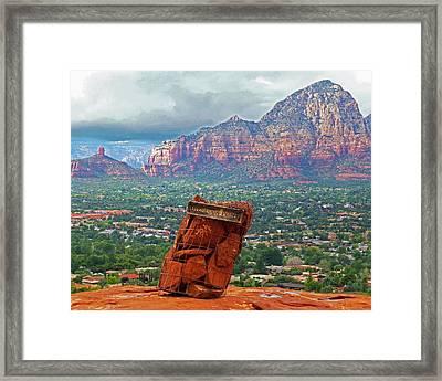 Overlook Point In Sedona Az Framed Print