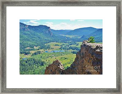 Framed Print featuring the photograph Overlook by William Wyckoff