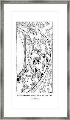 Overlooked Opportunities For A Gayer Fair The Framed Print by Carl Rose