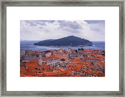 Overlooking Dubrovnik Framed Print by Madeline Ellis