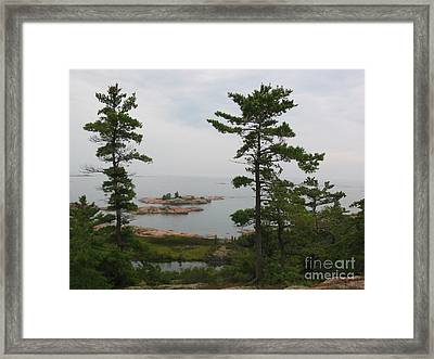 Framed Print featuring the photograph Overlooking Georgian Bay by Nina Silver