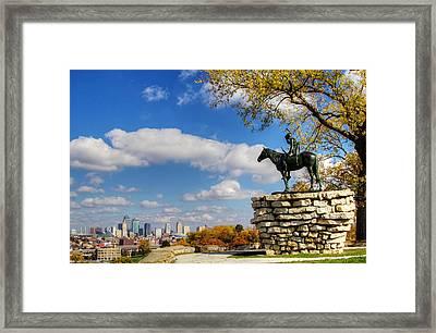 Overlooking Kansas City Framed Print
