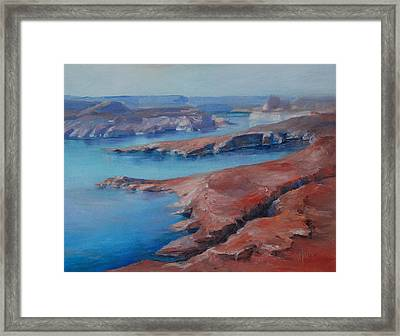 Overlooking Lake Powell Framed Print by Donna Pierce-Clark