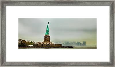 Overlooking Liberty Framed Print
