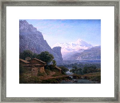 overlooking Mont Blanc anagoria Framed Print by Celestial Images