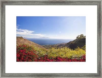 Overlooking Palos Verdes Estates Framed Print