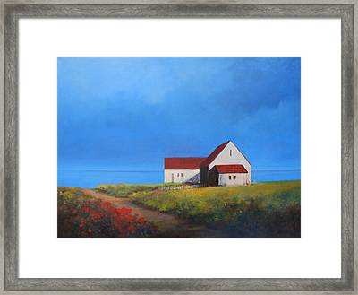 Overlooking The Bay Framed Print by Linda Puiatti