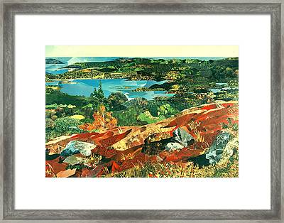 Overlooking The Bay Framed Print