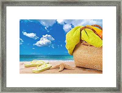 Overlooking The Ocean Framed Print by Amanda Elwell