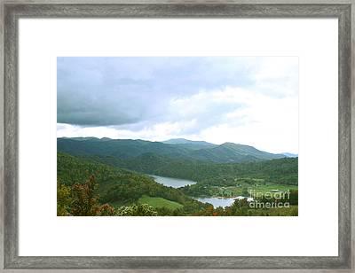 Overlooking Watauga Lake Framed Print