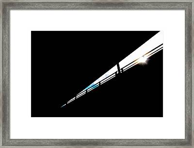 Overpass At Sunset Framed Print