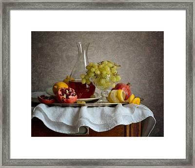 Overripe Grapes Framed Print by Nikolay Panov