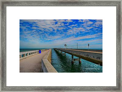Overseas Highway Florida Keys Framed Print