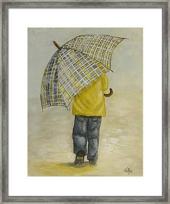 Oversized Umbrella Framed Print