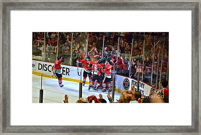 Overtime Game Winner Framed Print by Melissa Goodrich