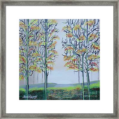 Framed Print featuring the painting Overture by Nereida Rodriguez
