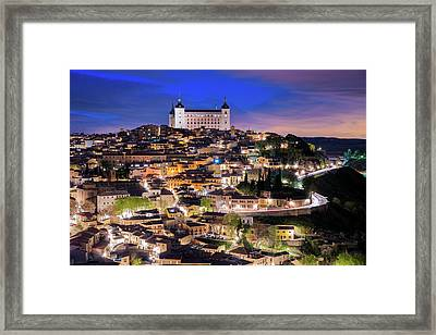 Overview Of The City Of Toledo In Spain Framed Print by Daniel Viñé Garcia
