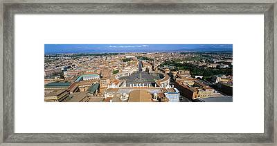 Overview Of The Historic Centre Of Rome Framed Print
