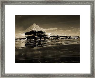 Overwater Bungalows  Framed Print