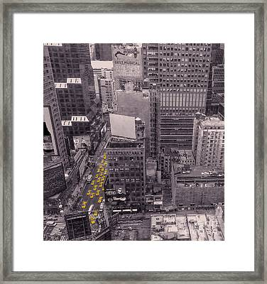 Overwhelm Me New York  Framed Print