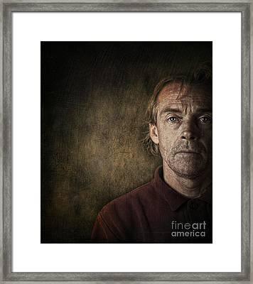Overwhelmed... Framed Print by Sandra Cunningham
