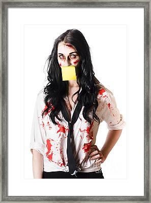 Overworked Businesswoman Framed Print