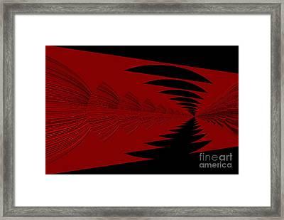 Red And Black Design Framed Print