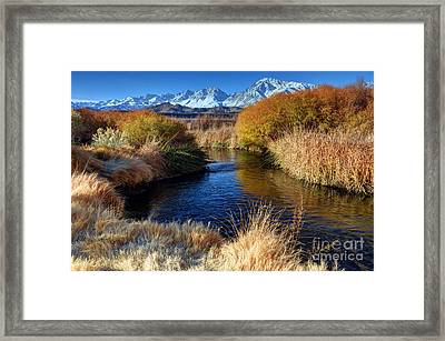 Owens River And Eastern Sierra Nevada Mountains Framed Print
